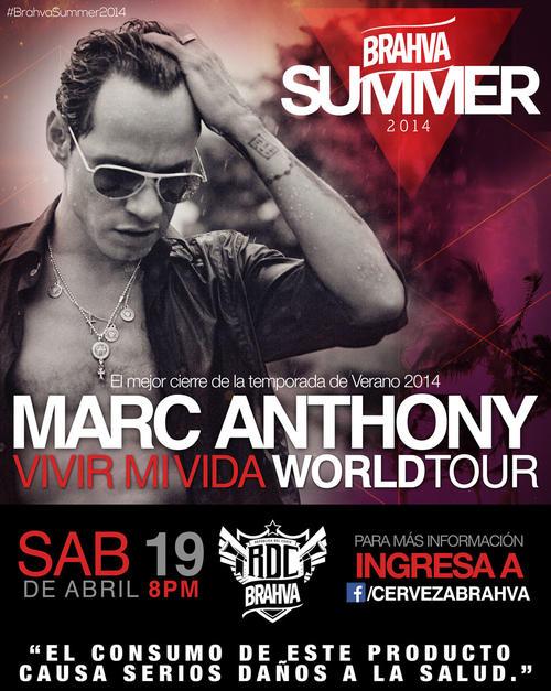 El concierto de cierre estará a cargo de Marc Anthony.  (Foto: Brahva)