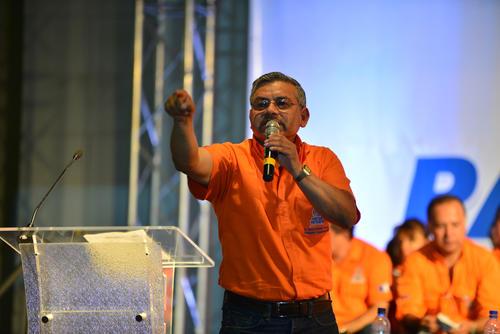 El legislador Marco Orozco Arriola habla durante Asamblea Nacional del PP. (Foto Wilder López/Soy502)
