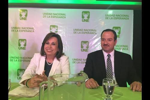 El binomio presidencial de la UNE lo conforma Sandra Torres y Mario Leal.  (Foto: Archivo/Soy502)