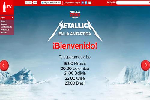 Hoy a partir de las 19:00 horas podrás escuchar el concierto en vivo, en el sitio oficial de Coca-Cola Zero.