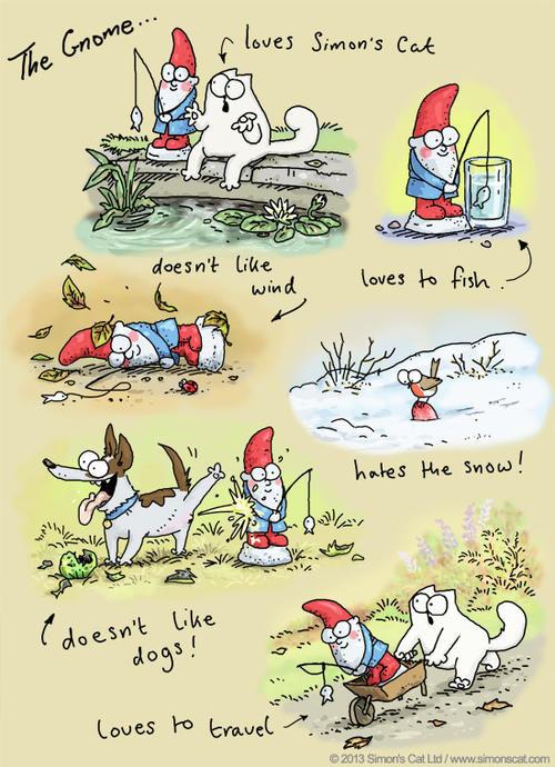 "Las caricaturas de ""Simon's Cat""."