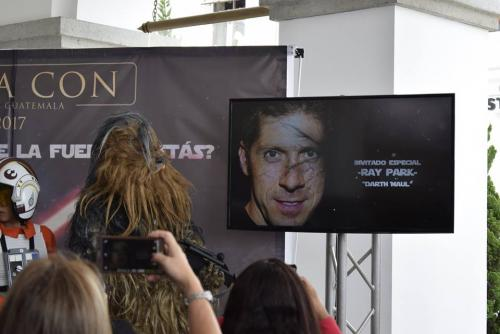 El actor Ray Park, quien encarna a Darth Maul en Episodio I. (Foto: Adriana Ligorría/Soy502)