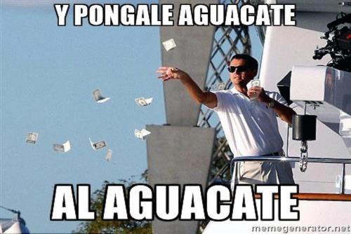 El alto precio del aguacate, siempre genera sentido del humor en los consumidores. (Foto:cdn.meme.am)