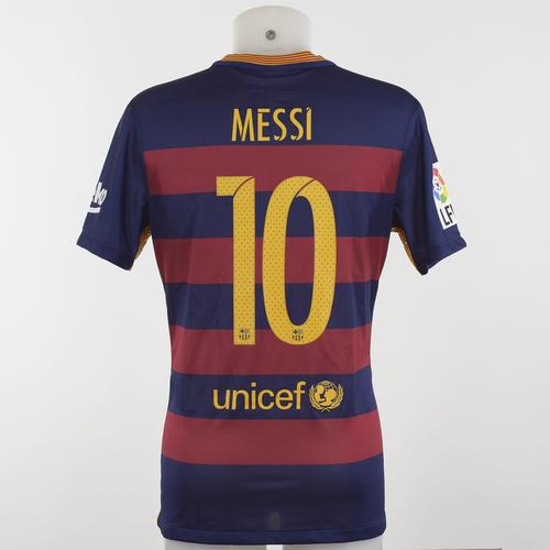 Esta es la camisola de Messi que está siendo subastada. (Foto: Página oficial Roma)