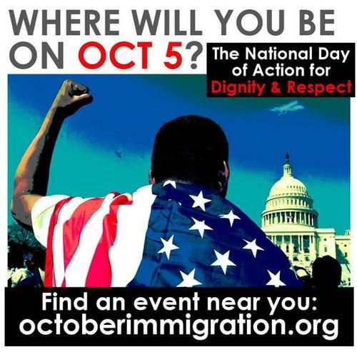 Con imágenes como esta, se convocó a la participación masiva para exigir la aprobación de la Reforma Migratoria, desde las redes sociales.