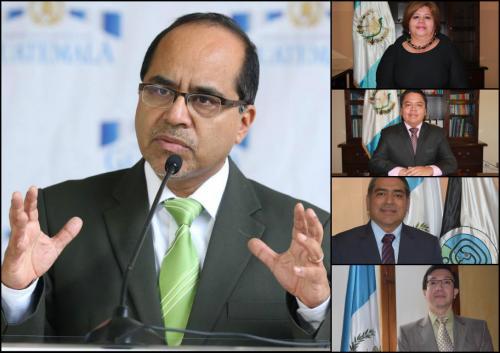 Autoridades del Ministerio de Educación.