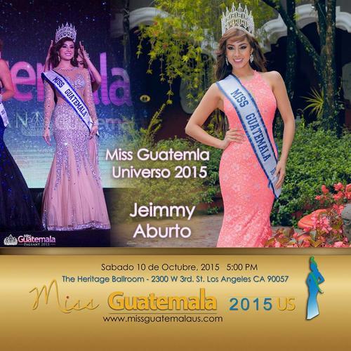 Miss Guatemala Universo, Jeimmy Aburto, asistirá a la gala. (Diseño: Miss Guatemala US)