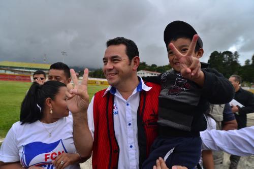 Jimmy Morales ha reiterado que fue el partido con mejores resultados sin necesidad de hacer grandes inversiones. (Foto: Archivo/Soy502)