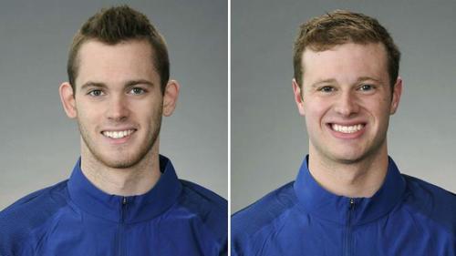 Los nadadores Gunnar Bentz y Jack Conger, quienes fueron detenidos en el aeropuerto de Río de Janeiro. (Imagen: uk.sports.yahoo.com)