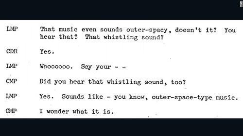Transcripción de los mensajes enviados por la tripulación del Apollo 10. (Imagen: NASA)