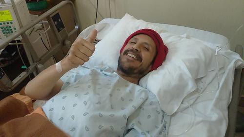 Nelson Leal se encuentra luchando por recuperar en un hospital de la zona 1. (Foto: Facebook)