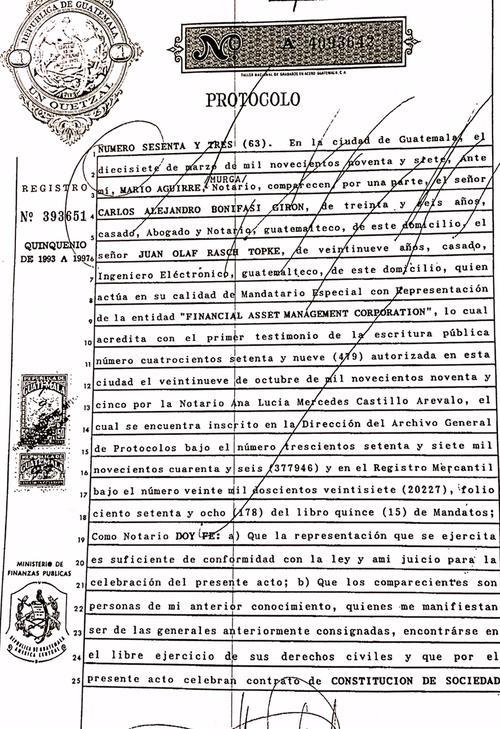 """Bonifasi Girón y Rasch Topke fundaron """"Residenciales La Pradera"""" en 1997."""