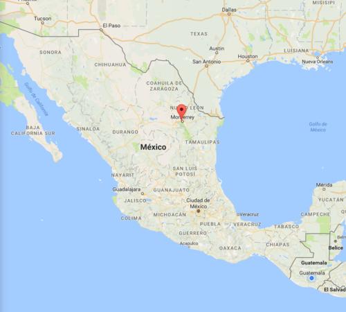 Rabbé fue visto en un estado fronterizo con Estados Unidos. (Foto: captura de pantalla/Google Maps)
