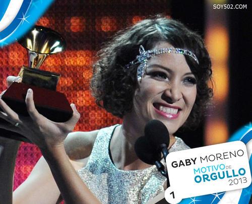 Gaby Moreno, cantautora y compositora guatemalteca, ganadora del Grammy Latino como Mejor Artista Nuevo de 2013.