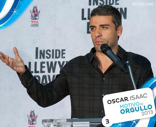 Oscar Isaac, actor guatemalteco, nominado a los Globos de Oro como Mejor Actor de Comedia o Musical para la edición que se llevará a cabo en enero de 2014.