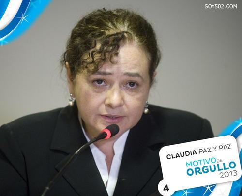 Claudia Paz y Paz, Fiscal General de Guatemala, fue nominada al Premio Nobel de la Paz en el año que termina.