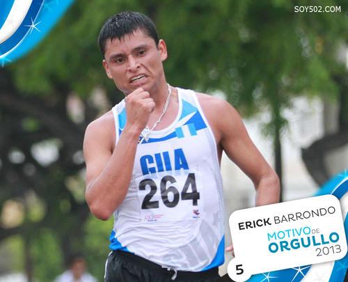 Erick Barrondo, atleta nacido en San Cristóbal Verapaz, Alta Verapaz. Fue durante el 2013 ganador de los Grandes Premios de Dublín y tercer lugar en el Gran Premio de Lugano, Suiza, así como medalla de oro en los Juegos Bolivarianos.