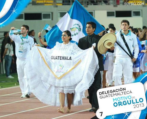 La delegación guatemalteca que participó en los Juegos Bolivarianos del 2013 conquistó 18 medallas de oro, 23 de plata y 35 de bronce, para hacerse acreedora a la 6a. posición en el medallero general.