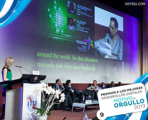 """Guatemala recibió uno de los ocho premios a los mejores desarrollos digitales en el """"World Summit on the Information Society""""."""