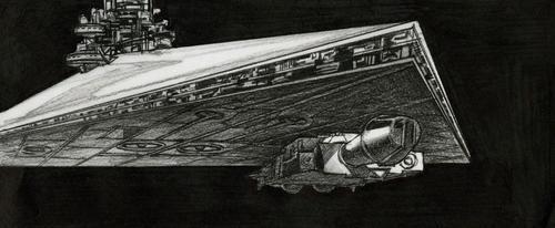 Este borrador de una nave utilizada en el Episodio IV - Una nueva esperanza, será parte de la colección expuesta. (Foto: lucasmuseum.org)