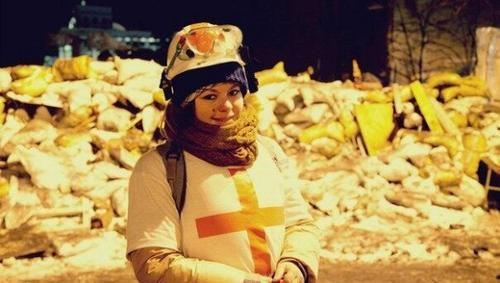 Pese a la gravedad de la herida Olesya sobrevivió al ataque y se recupera en un hospital en ucrania. (Foto: Twitter)