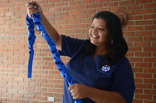 Estas cuerdas son especiales para soportar el peso de los peludos. (Foto: Selene Mejía/Soy502)