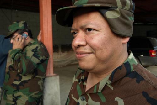 Juan Orozco en su papel del soldado Melrosco. (Foto: Facebook/Moralejas)