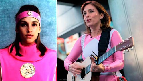 Amy Jo Johnson uso su traje de Power Ranger rosa promocionar su último trabajo como directora y guionista. (Foto: grazia.es)