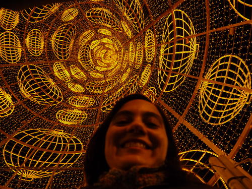 Marie André Destarac disfruta de las fiestas navideñas en España. Utiliza la tecnología para acercarse a su familia en estas fechas especiales. (Foto: Marie André Destarac)