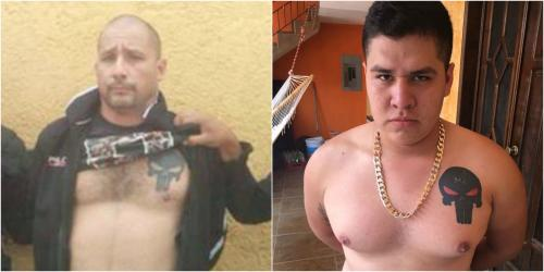 """Marlon Monroy """"El Fantasma"""" y su hijo del mismo nombre tienen tatuada la misma insignia. (Fotos: Soy502)"""