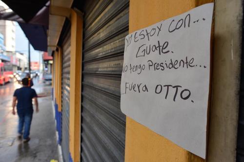 Los comercios en varios sectores del país cerraron sus locales.  (Foto: Jesús Alfonso/Soy502)