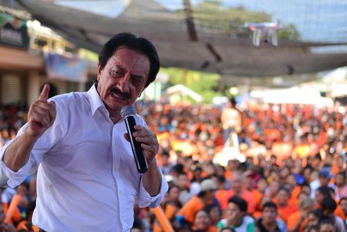 Mario David García dio su discurso durante 11 minutos. (Foto: Wilder López/Soy502)