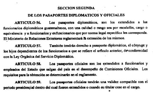 Los familiares de algunos funcionarios ya tienen pasaportes diplomáticos según se establece en la Ley de Migración vigente. (Foto: José Miguel Castañeda/Soy502)