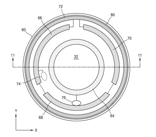 Uno de los diagramas de la patente de Samsung. (Foto: SamMobile)