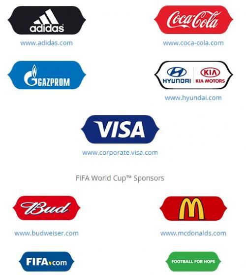McDonald´s, Coca Cola, Budweiser y Visa, figuran entre los patrocinadores de la FIFA. (Foto: Google)