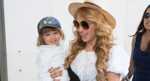 Andrea Nicolás, el primer hijo de Paulina Rubio, tiene cinco años actualmente. (Foto: venuemagazine.com)