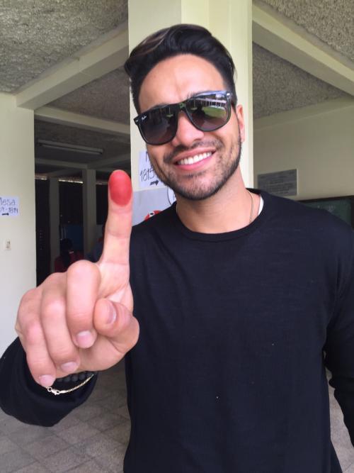 """Pedro Cuevas dijo """"presente"""" en las elecciones 2015. (Foto: Pedro Cuevas)"""