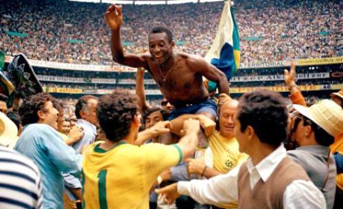En México 1970, Pelé llevó a Brasil a la gloria mundial. (Foto: FIFA)