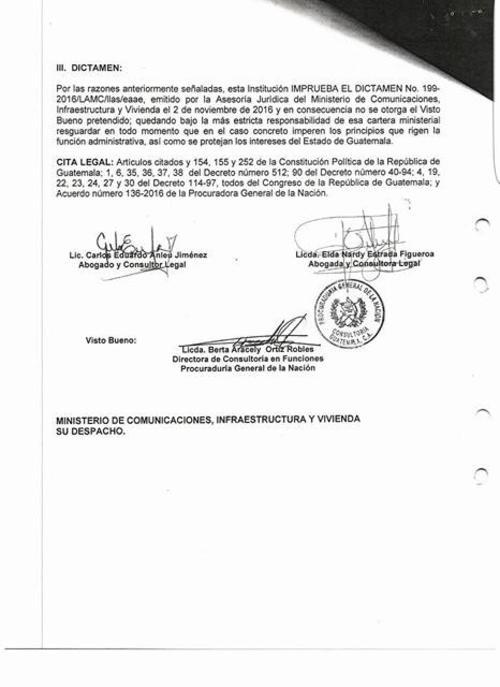 La PGN recomendó no rescindir el contrato con Oderbrecht. (Foto: captura de pantalla)