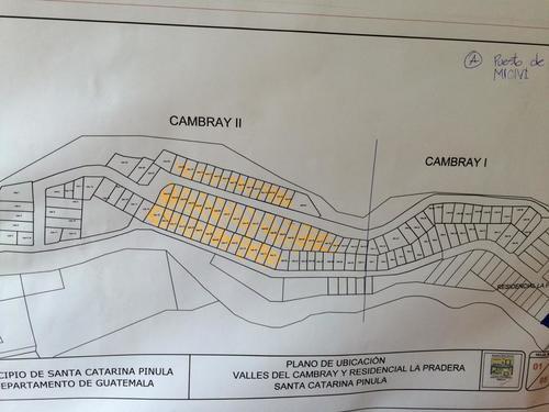 Las casas soterradas son las que están marcadas en este mapa. Las construidas por Bonifasi Girón se encuentran en El Cambray I, a pocos metros de ahí. (Mapa: MICIVI)