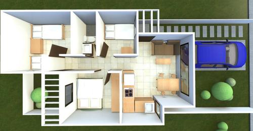 Modelo de la viviendas construidas por el Ejercito de Guatemala y el Ministerio de Comunicaciones para los damnificados de El Cambray (imagen: CIV)