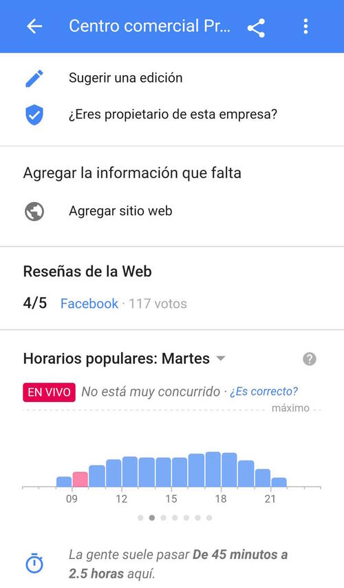 En Pradera Concepción, así lucía la afluencia de personas al momento de hacer la prueba. (Imagen: captura de pantalla)