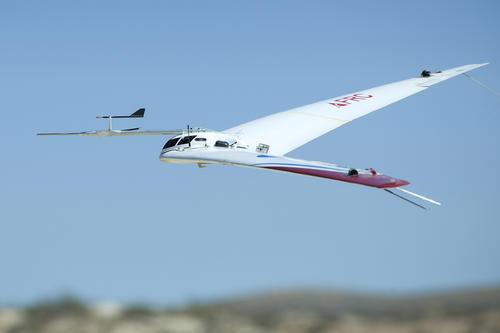 El Prandtl-D No. 2 regresa a tierra luego de una prueba de vuelo. (Foto: Nasa)