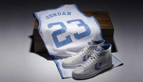 Antes de cada juego, Michael Jordan vestía una de las prendas que utilizaba cuando jugó en la Universidad de Carolina del Norte.