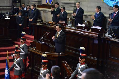 El presidente de la República de Taiwán en su discurso en el Congreso de Guatemala, durante su visita el martes 15 de marzo. (Foto: Jesús Alfonso/Soy502)