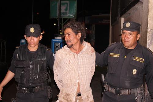Mauricio Morales Barrera, de 45 años, fue arrestado acusado de intentar asesinar a su esposa en Escuintla. (Foto: PNC)