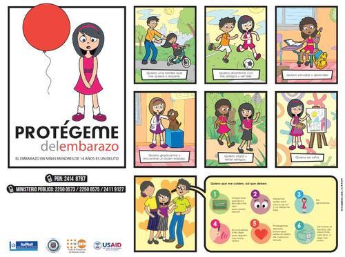 """El Gobierno de Guatemala puso en marcha una campaña de prevención con el nombre """"Protégeme del embarazo"""" que fue criticada por varios sectores por señalar la consecuencia y no la causa del problema. (Foto: OSAR Guatemala)"""