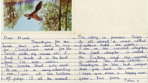 La carta, la primera conocida del músico, es un mensaje de agradecimiento. (Foto: ABC)