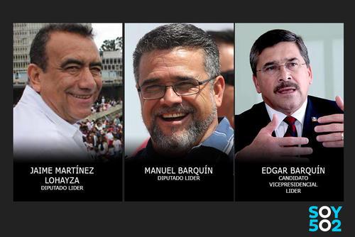 Los tres políticos están involucrados en el caso Lavado y Política.