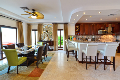 Suite del resort Pristine Bay en Roatán donde se hospedó el presidente. (Foto: Pristine Bay Resort & Golf)